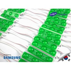 LED Modul SAMSUNG DOFF GREEN 3 mata SMD 2835 | 12V IP68 Waterproof (KOREA)