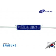 LED Modul SAMSUNG DOFF BLUE 3 mata SMD 2835 | 12V IP68 Waterproof (KOREA)