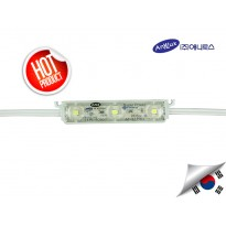 LED Module Korea ANX 3 mata SMD 2835 | 12V IP68 Waterproof + Lensa