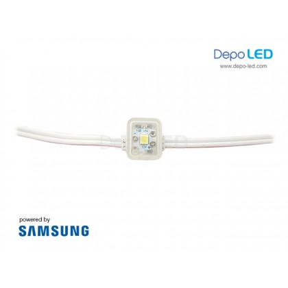 LED Module SAMSUNG ANX 1 mata SMD 2835 | 12V IP68 Waterproof (KOREA)