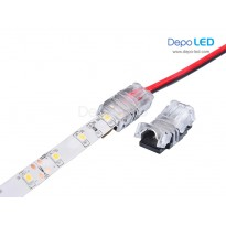 3528 LED Strip to Wire IP65 Waterproof Connector | 8mm 2 PIN