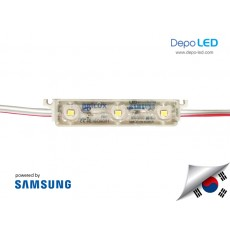 LED Modul SAMSUNG Brilux 3 mata SMD 2835 | 12V IP68 Waterproof (KOREA)