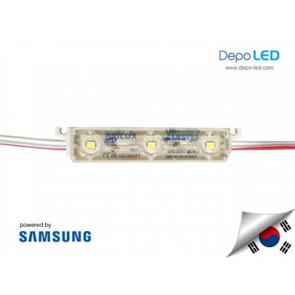 LED Module SAMSUNG 2835 ANX 3 mata | 12V IP68 Waterproof (KOREA)