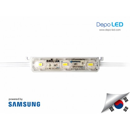 LED Module SAMSUNG Brilux 3 mata SMD 5630 | 12V IP68 Waterproof (KOREA)