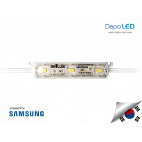 LED Modul SAMSUNG Brilux 3 mata SMD 5630 | 12V IP68 Waterproof (KOREA)
