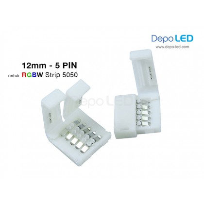 5050 RGBW LED Strip CLIP Connector | 12mm 5 PIN