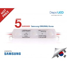 LED Modul SAMSUNG LEDXpert WHITE DOFF 3 mata SMD 2835 | 12V IP68 Waterproof (KOREA)