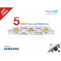 LED Modul SAMSUNG Korea LEDXpert 3 mata SMD 2835 Transparent WARM WHITE | 12V IP68 Waterproof