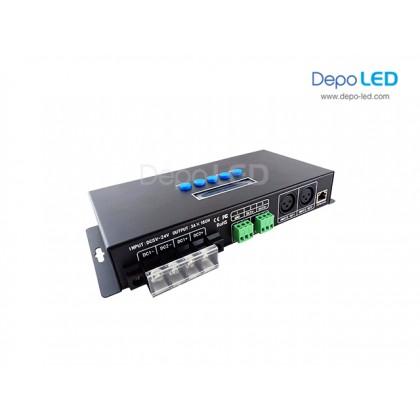 32 universe Artnet & sACN to SPI  + DMX Digital LED Controller | Online & Offline (Hybrid)