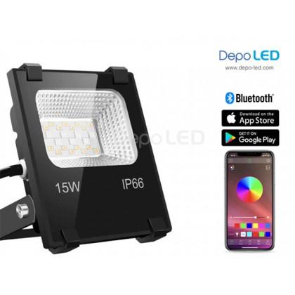 Bluetooth RGB-WW Floodlight LED 15Watt   Group Control