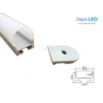 Housing LED OUTBOW 2cm x 3cm | 1m