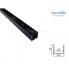 Housing LED OUTBOW ALL BLACK 209   1m