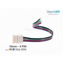 5050 RGB LED Strip CLIP to Wire Connector | 10mm 4 PIN