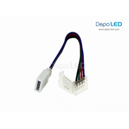 RGB LED 4 PIN CLIP to FEMALE Flexible Connector