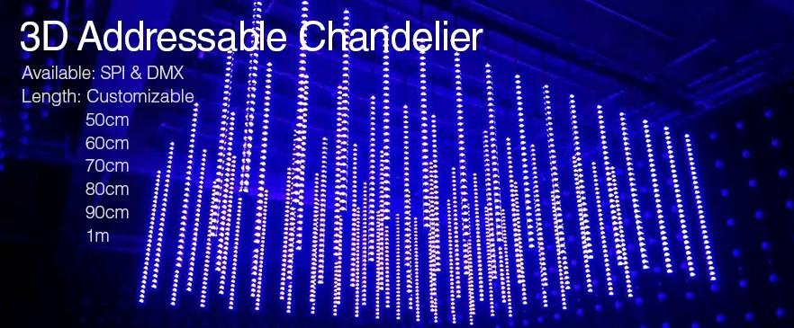 3D Chandelier Meteor