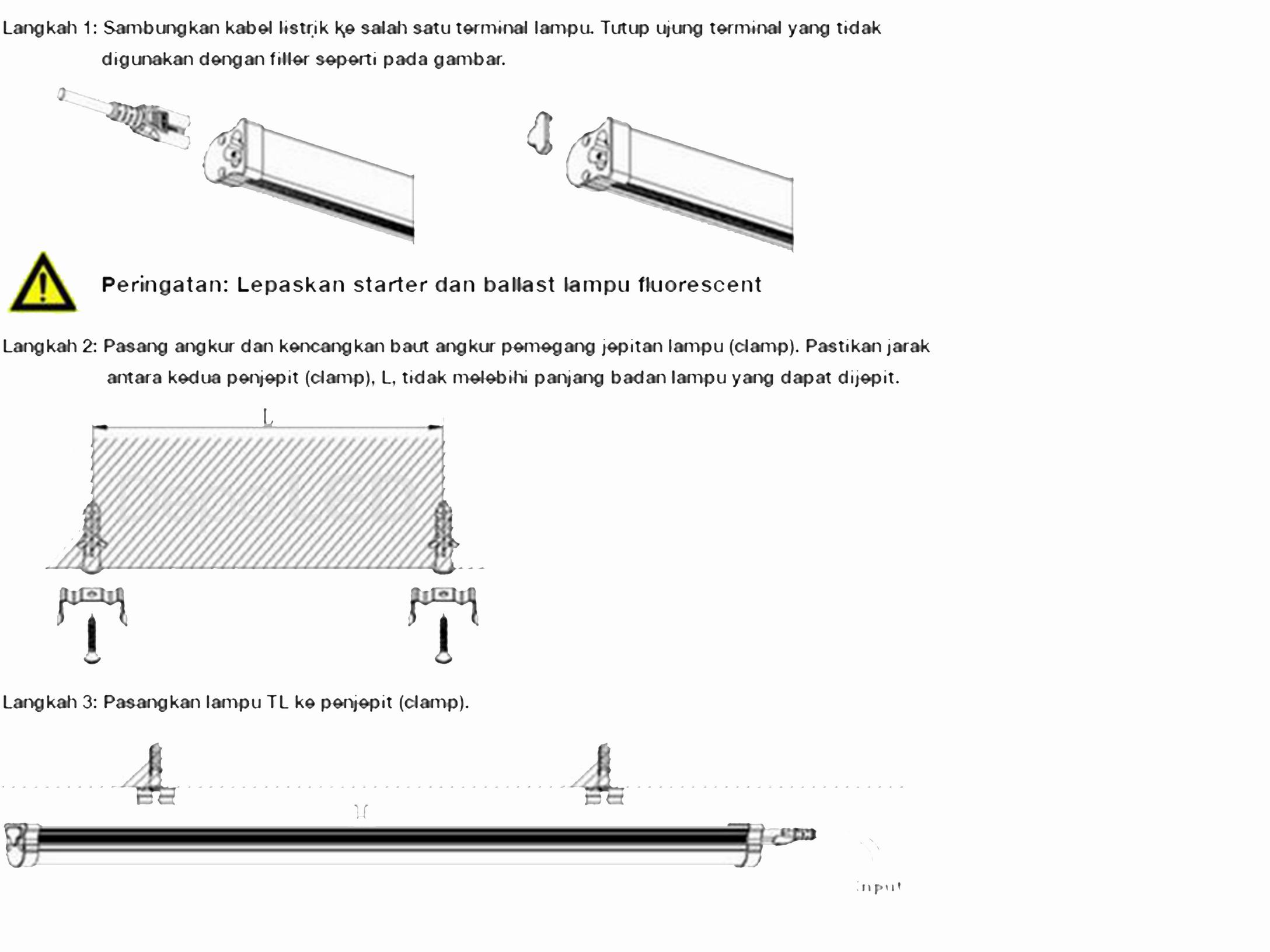Cara pemasangan lampu TL T5 LED