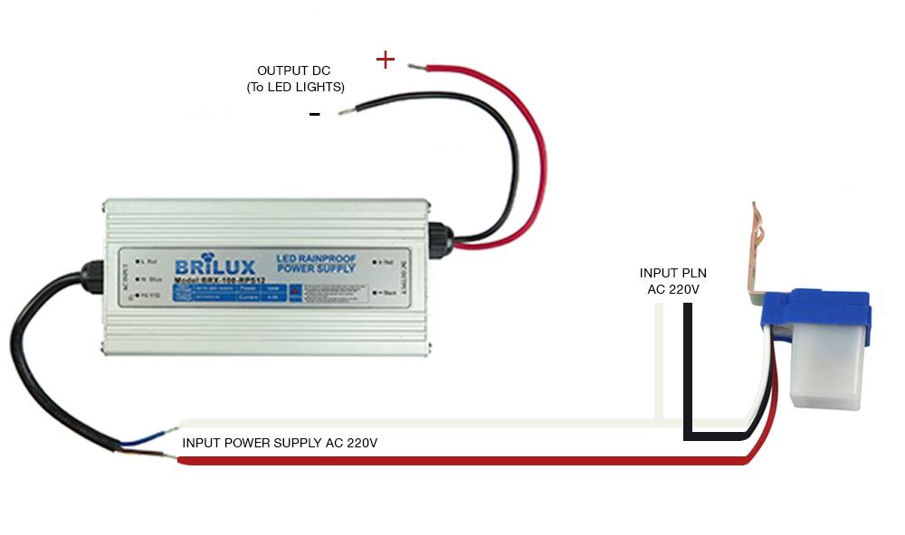 Diagram cara pemasangan sensor photocell